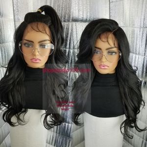 human hair lace front wig with circular parting sp